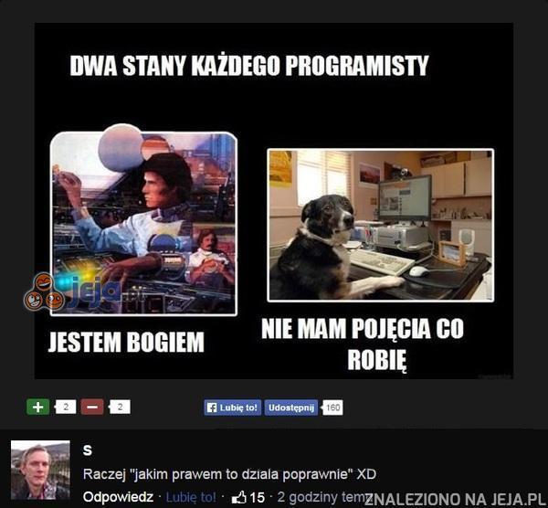 Dwa stany każdego programisty