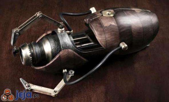 Portal gun w stylu steampunk