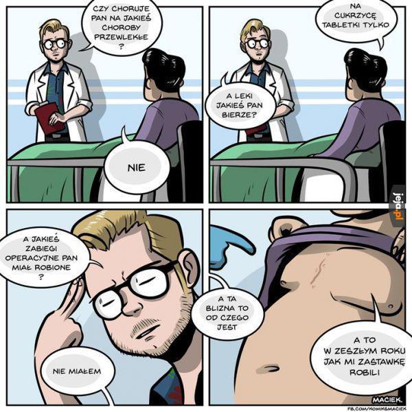 Typowy Polak u lekarza