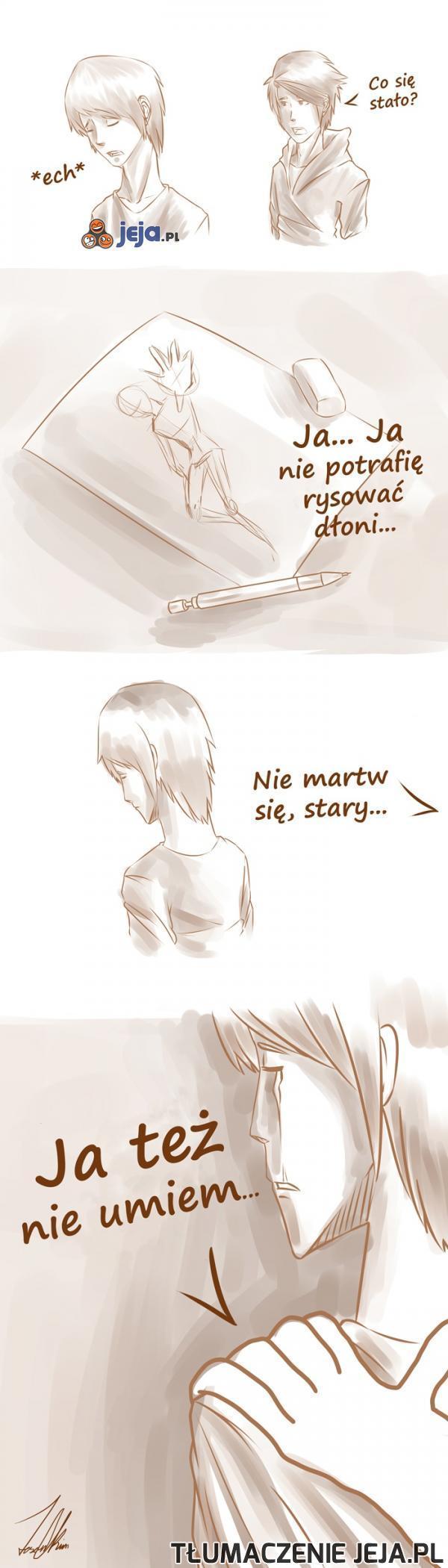 Częsty problem rysowników