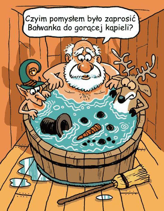 Bałwanek w kąpieli