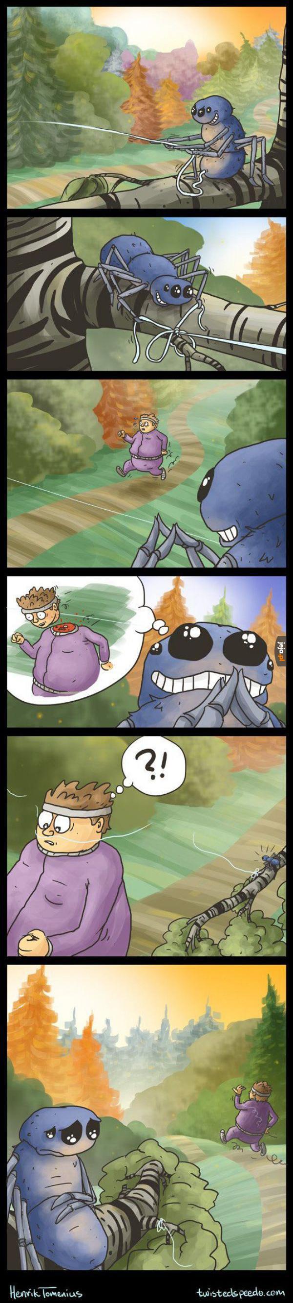 Zły pajączek