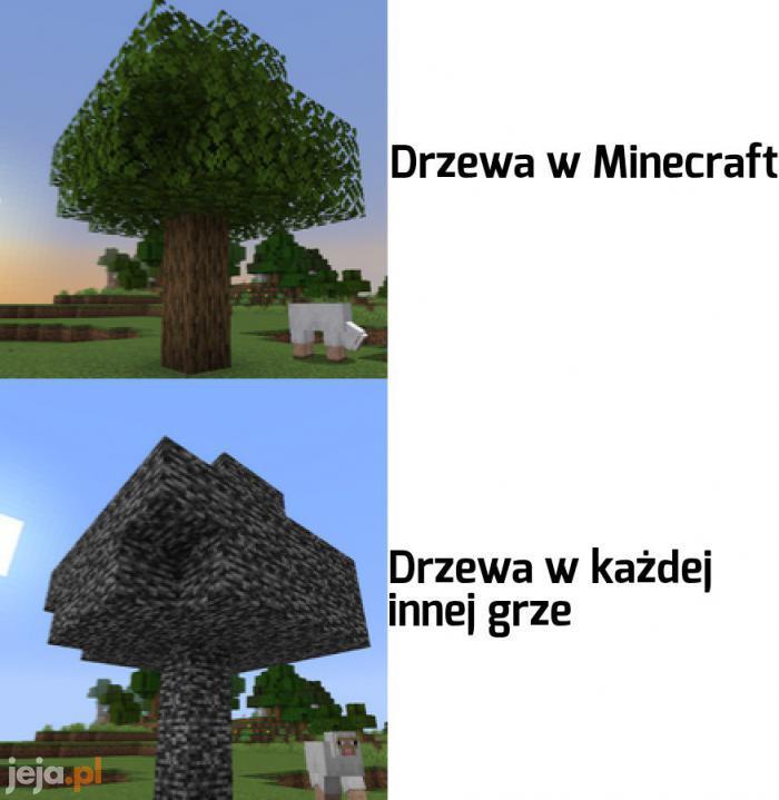 Betonowe krzewy