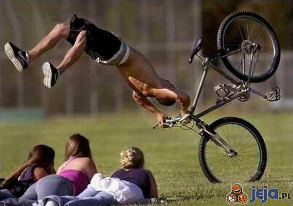 Jazda rowerem pod kątem