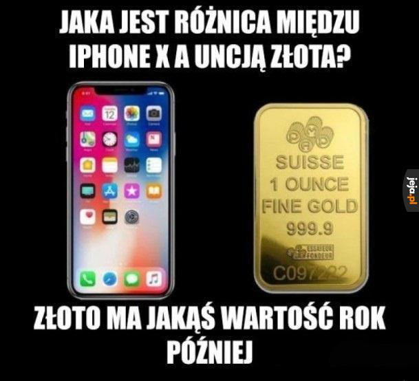 Iphone vs złoto