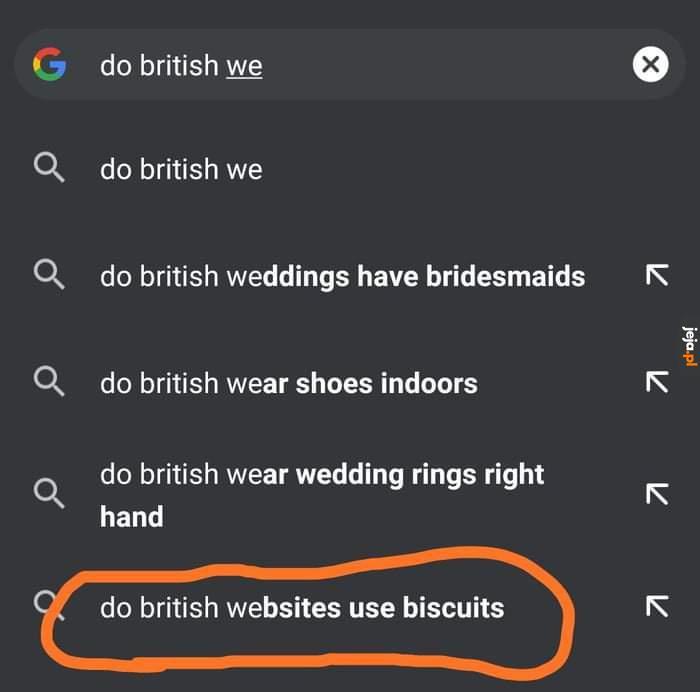 Czy Brytyjski internet używa herbatników zamiast ciasteczek?