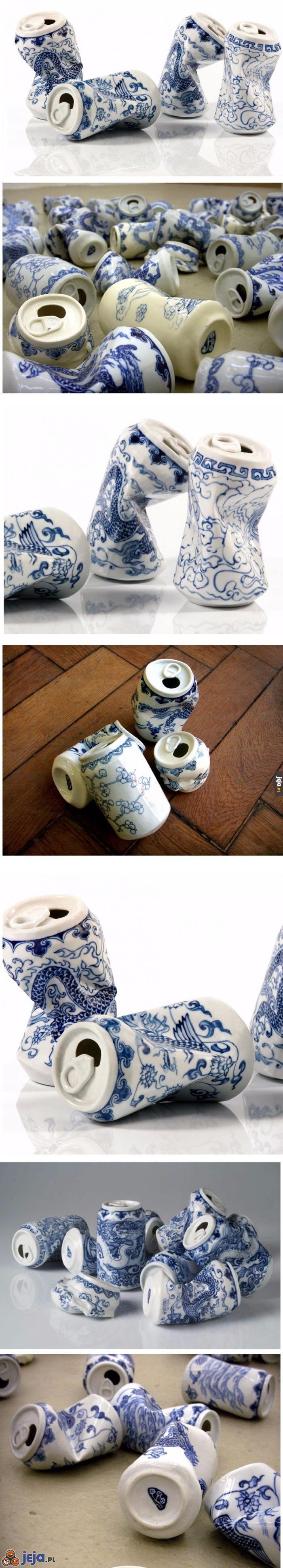 Stare puszki po napojach też mogą być sztuką
