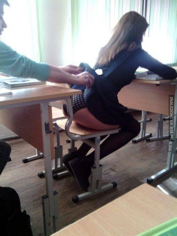 Niebezpiecznie jest ubierać spódniczkę do szkoły