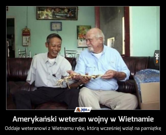 Amerykański weteran wojny w Wietnamie