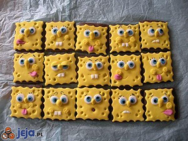 Ciasteczkowe Spongeboby