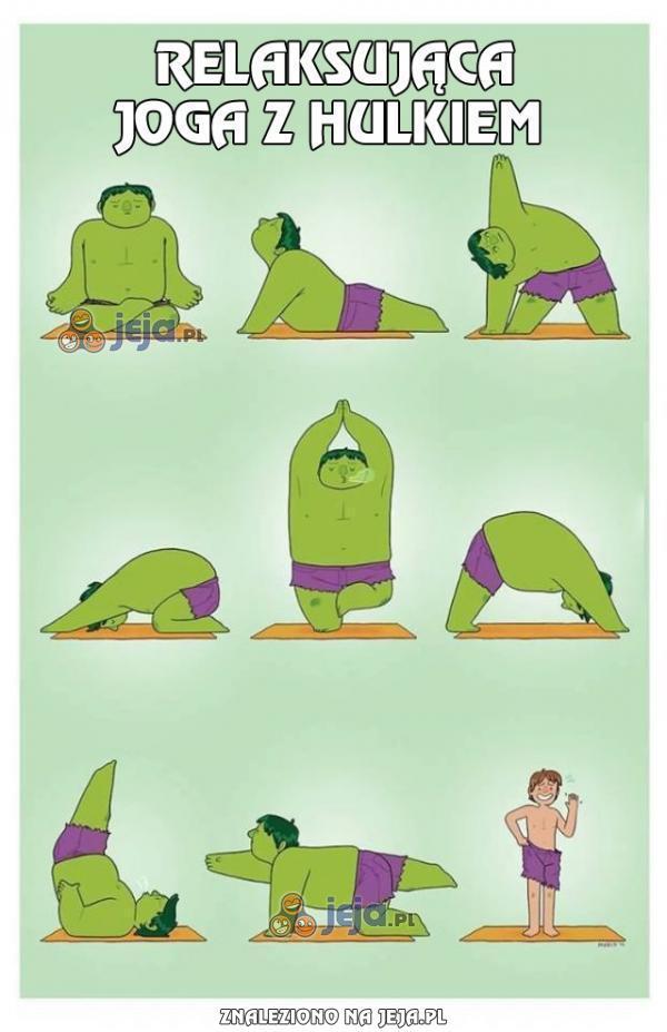 Relaksująca joga z Hulkiem