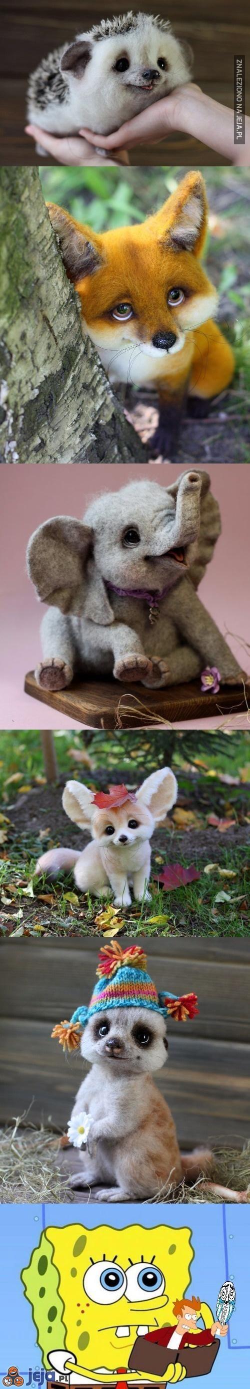 Realistyczne zwierzaki zrobione z wełny