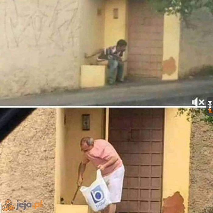 A myślał, że to pies sąsiada