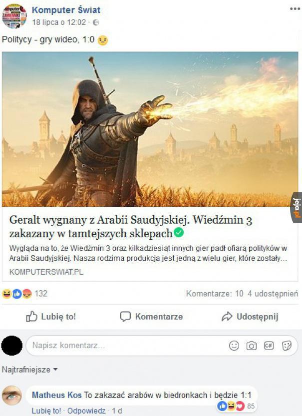 Biedni Arabowie, nie poznają przygód Geralta