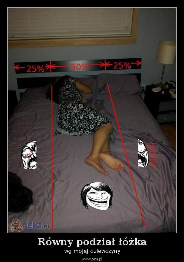 Równy podział łóżka