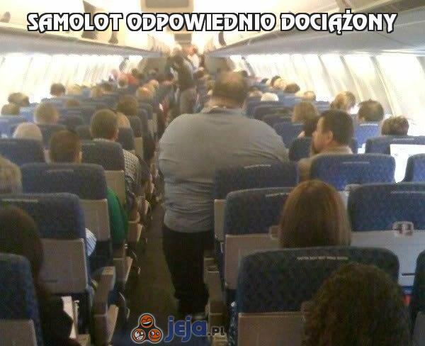 Samolot odpowiednio dociążony