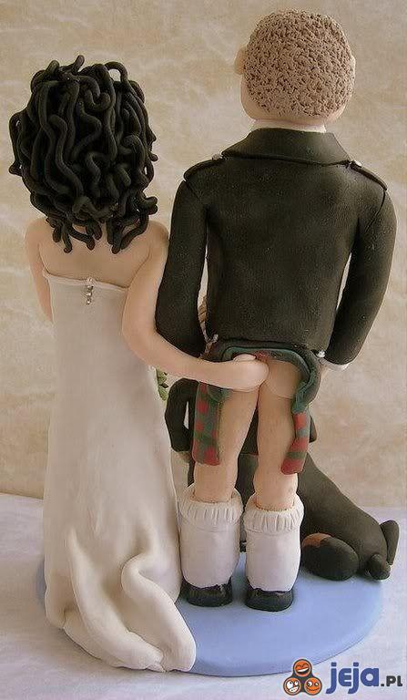 Szkocka figurka ślubna