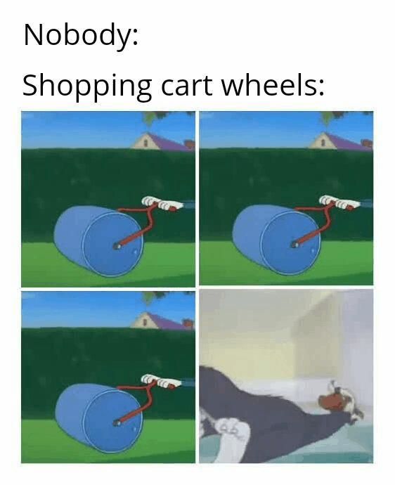 Kółka wózków sklepowych takie są