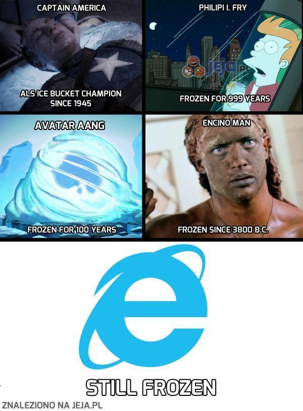 Internet Explorer tylko w tym nie zawodzi