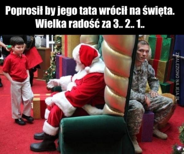 Poprosił by jego tata wrócił na święta