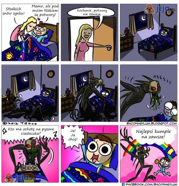 Szok i zaskoczenie! Potwór pod łóżkiem!