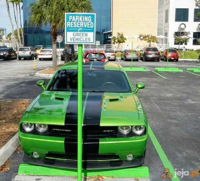 Parking dla zielonych samochodów