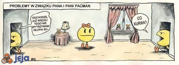 Problemy w związku pana i pani Pacman
