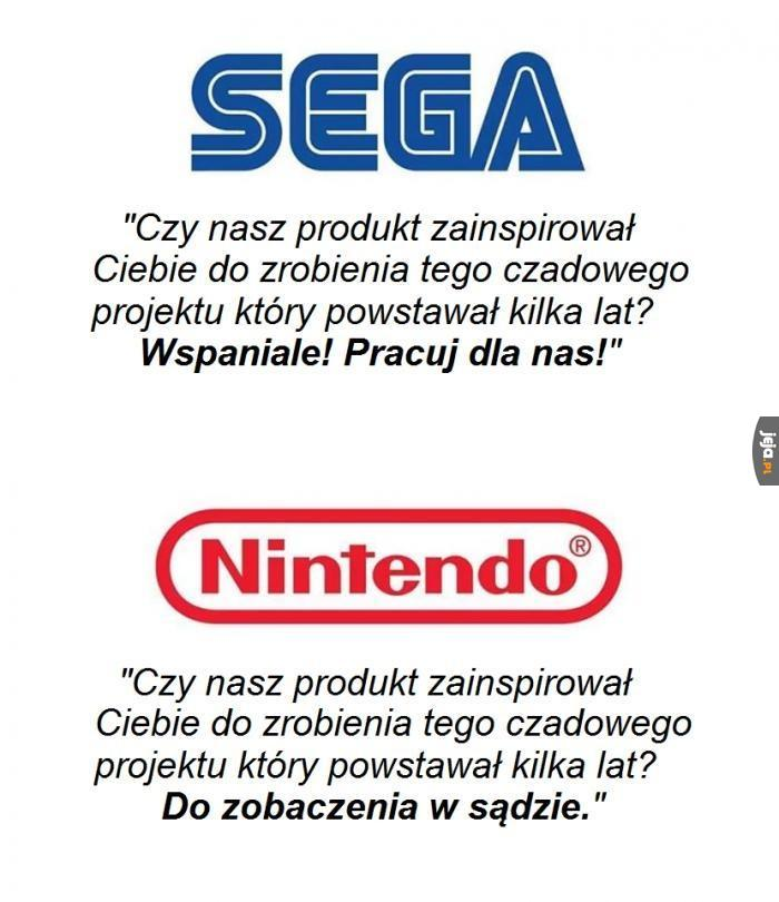 Sega does, what Nintendon't