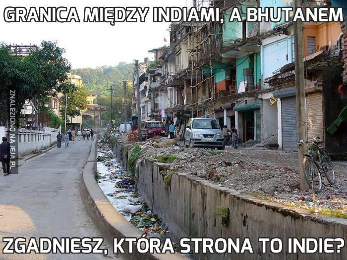 Granica między Indiami, a Bhutanem