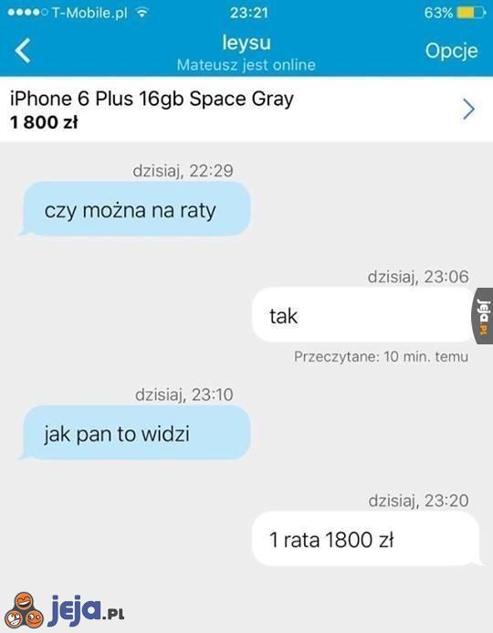 Iphone na raty