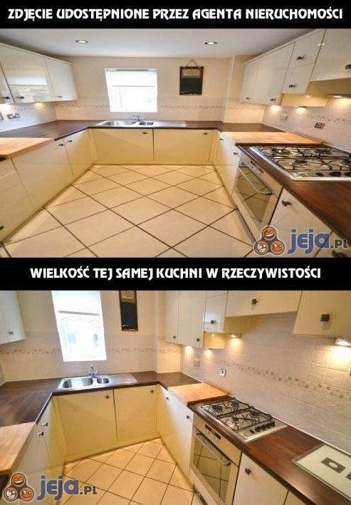 Zdjęcie agenta nieruchomości vs rzeczywistość