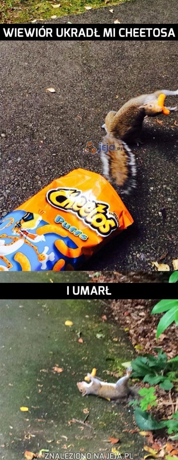 Tak kończą złodzieje Cheetosów