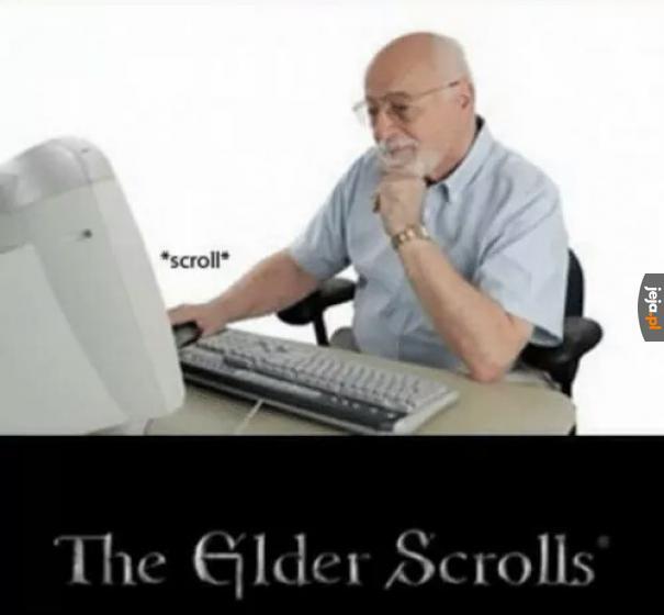Stary scrolluje