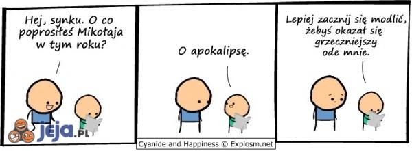 Cyanide & Happiness - Prośba do Mikołaja