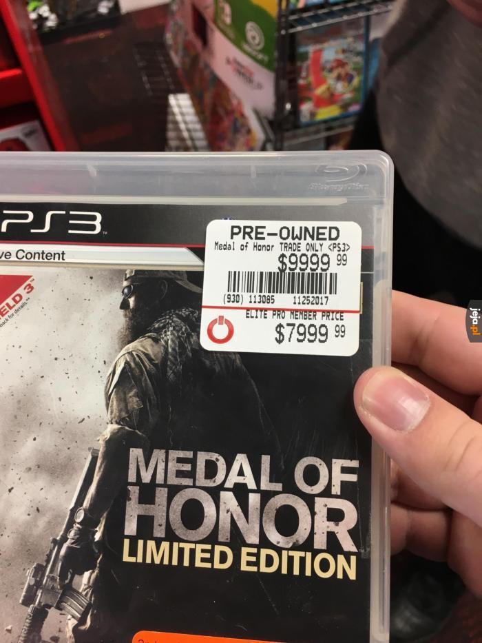 Cena nie jest honorowa
