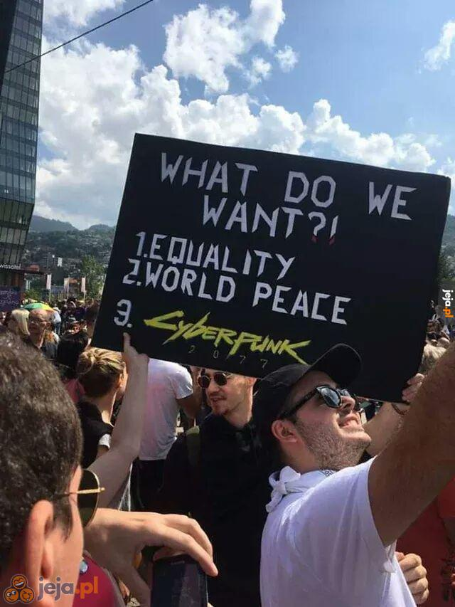 Czego chcemy?