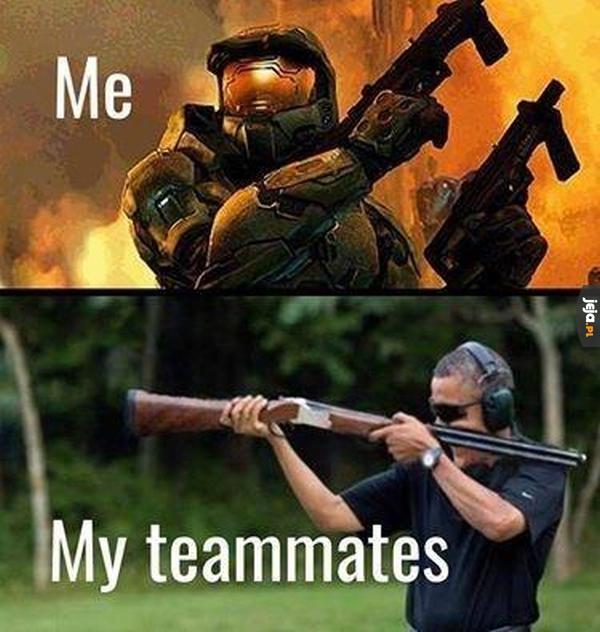 Ja i inni gracze z mojej drużyny
