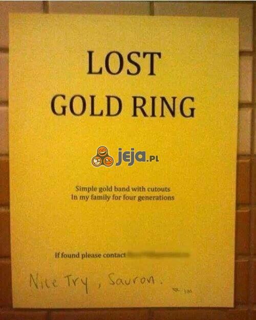 Niezła próba, Sauron!