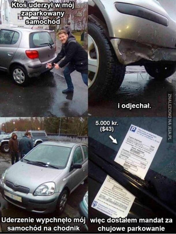 Niefart na parkingu