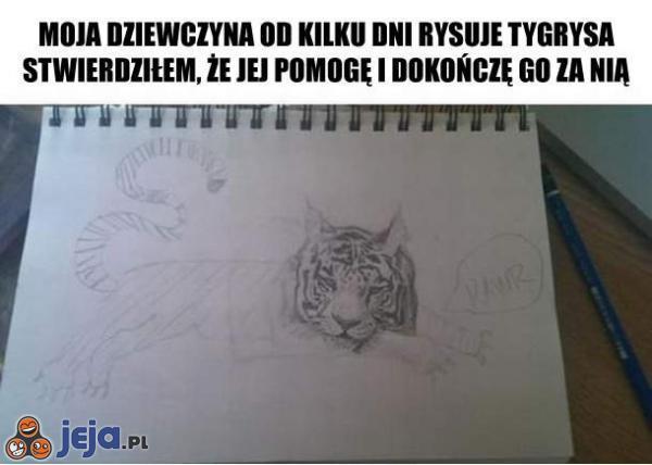 Rysowanie tygrysa
