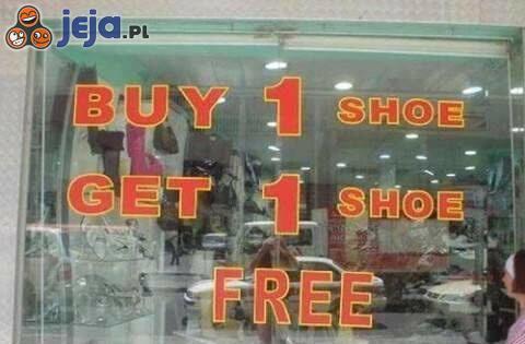 Kup jednego buta - drugi gratis