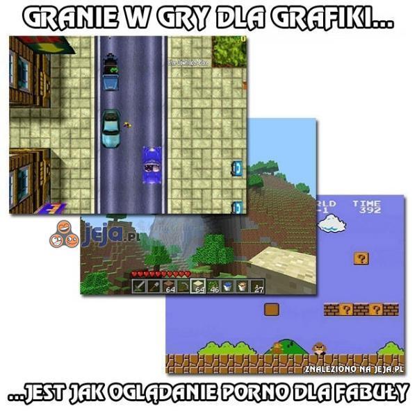 Granie w gry dla grafiki...