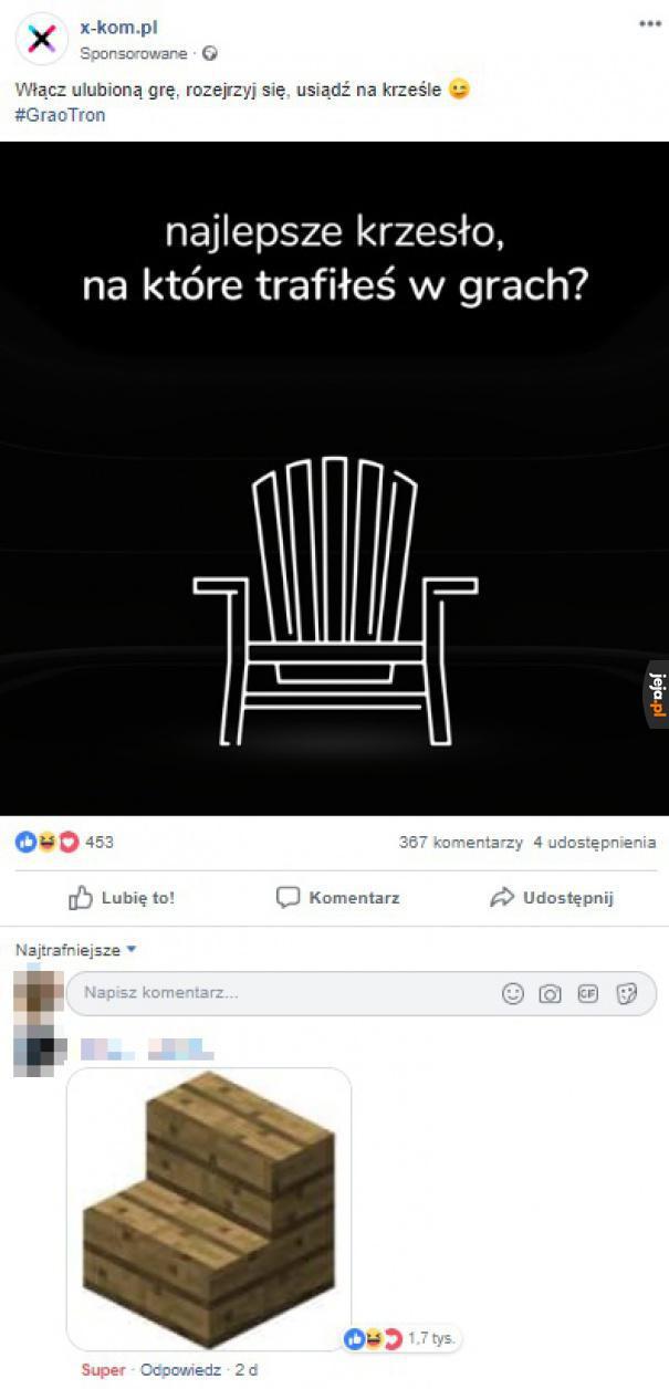 Najlepsze spośród krzeseł