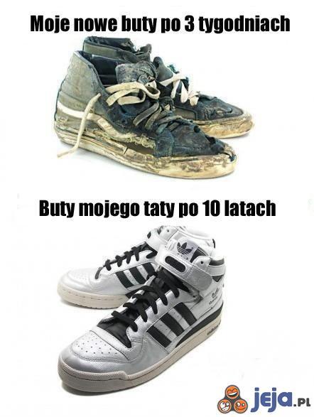 Moje buty i buty mojego taty