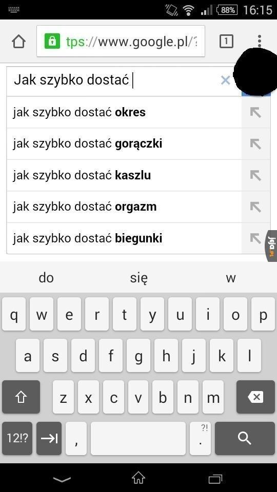 Czego to ludzie nie googlują