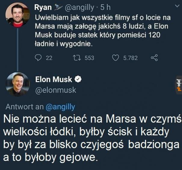 Elon dobry ziomek, wszystko przemyślał