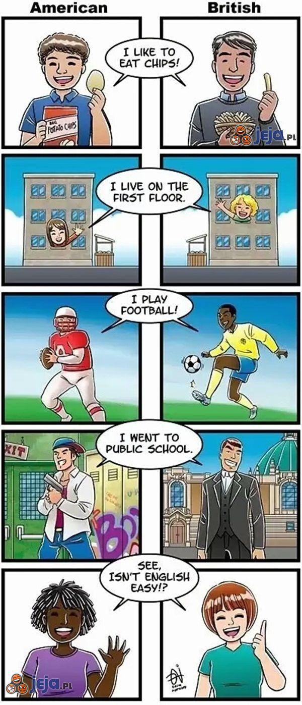Dwa rodzaje angielskiego