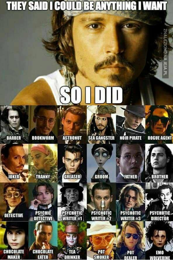 Johnny Depp i jego role