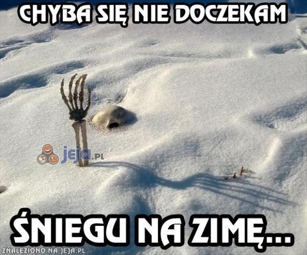 Chyba się nie doczekam śniegu na zimę...