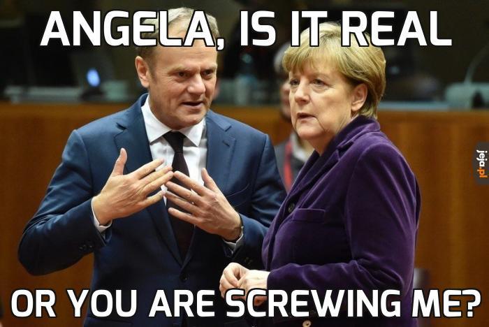 Angela, nie wkręcaj mnie
